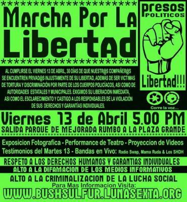 Los Cautivos (a los presos políticos de Mérida en Yucatán, México)